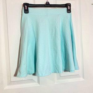 🦋Baby Blue Stripped Skater Skirt